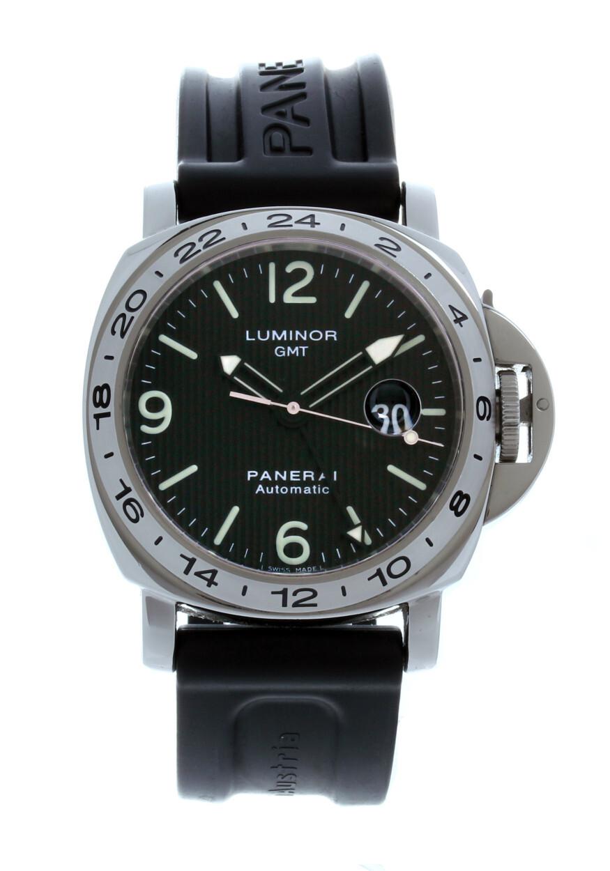 nouvelles variétés produit chaud personnalisé PAM 029 Panerai Luminor GMT Black/Rubber Ø44 mm USED € 5.500